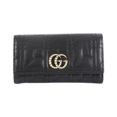 Gucci Pearly GG Marmont Continental Wallet Matelasse Leather