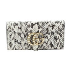 Gucci  Pearly GG Marmont Continental Wallet Python