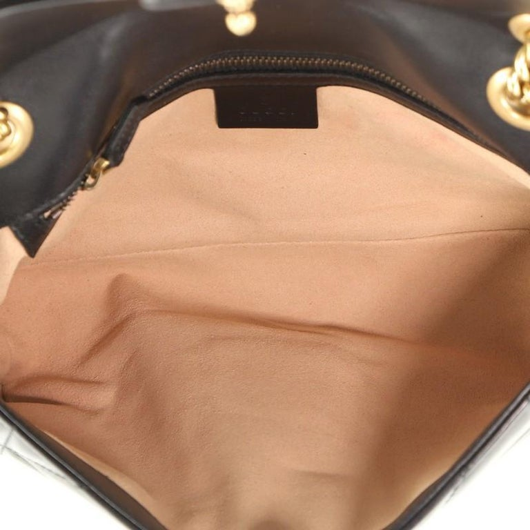 Women's or Men's Gucci Pearly GG Marmont Flap Bag Embellished Matelasse Leather Small For Sale