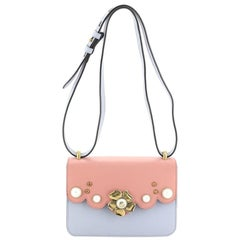 Gucci Pearly Peony Shoulder Bag Leather Small
