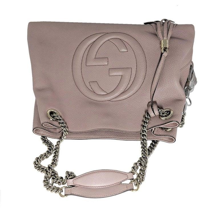 Gucci Pebbled Calfskin Medium Soho Chain Shoulder Bag For Sale 1
