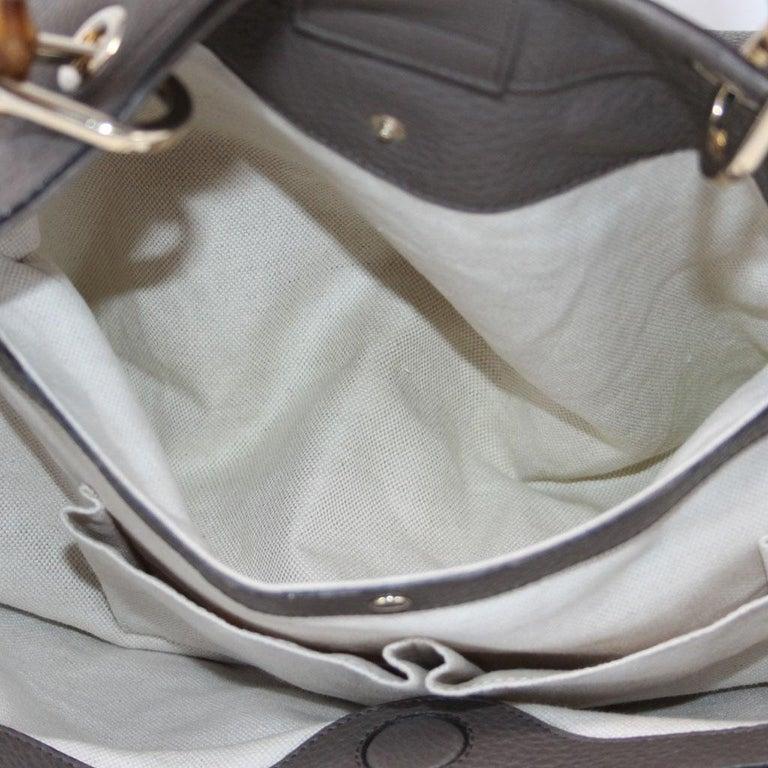 Gucci Pebbled Leather Large Brown Handbag And Shoulder Bag For Sale 5