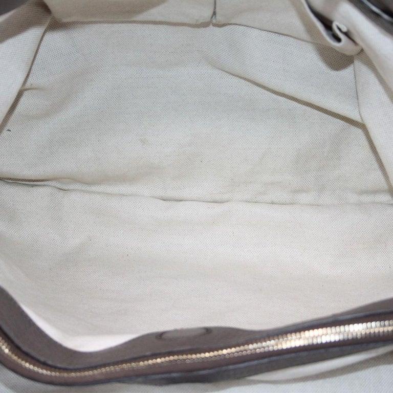 Gucci Pebbled Leather Large Brown Handbag And Shoulder Bag For Sale 4