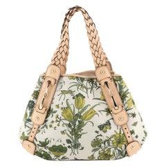 Gucci Pelham Shoulder Bag Flora Canvas Small