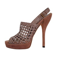 Gucci Perforated Leather Sandal 38