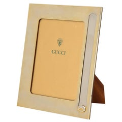 Gucci Picture Frame, Brass and Silver Plate, Signed
