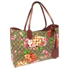 Gucci Pink Canvas Blooms Shoulder Bag