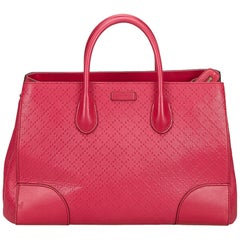 Gucci Pink Diamante Leather Handbag