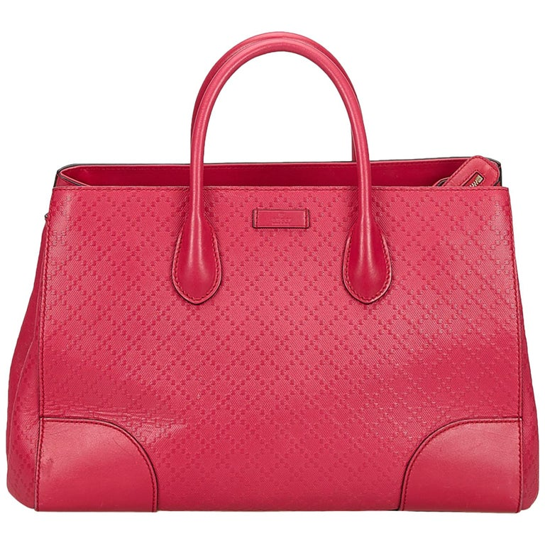 4fe3c22acc5 Gucci Pink Diamante Leather Handbag at 1stdibs