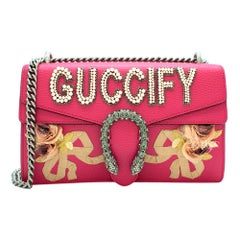 Gucci Pink Embellished Guccify Dionysus Bag