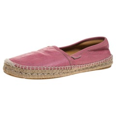Gucci Pink Guccissima Leather Espadrille Loafers Size 39