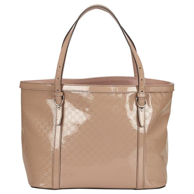 c985c66e98a0 Gucci Pink Guccissima Supreme Patent Leather Tote at 1stdibs
