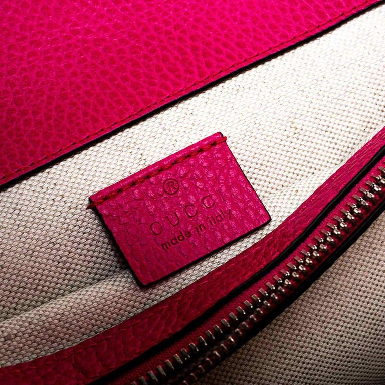 Gucci Pink Leather Guccify Pearl Dionysus Shoulder Bag For Sale 3