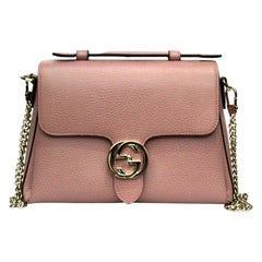 Gucci Pink Leather Interlocking Bag