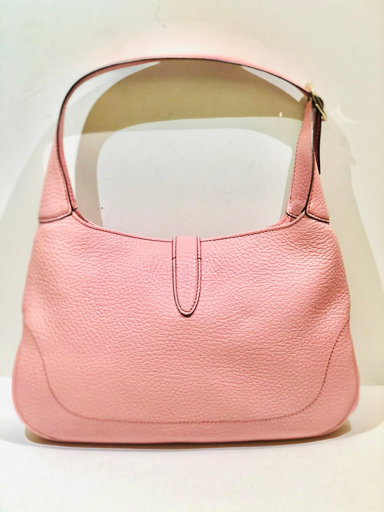 Gucci Pink Leather Jackie 1961 Hobo Shoulder Bag  In New Condition For Sale In Sheung Wan, HK