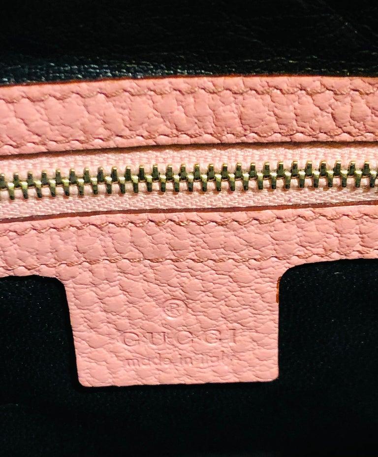 Gucci Pink Leather Jackie 1961 Hobo Shoulder Bag  For Sale 2