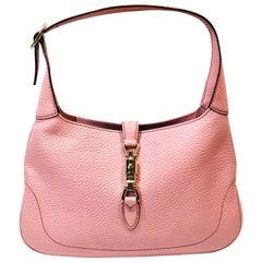 Gucci Pink Leather Jackie 1961 Hobo Shoulder Bag