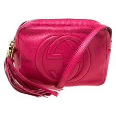 Gucci Pink Leather Soho Disco Crossbody Bag