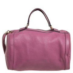 Gucci Pink Pebbled Leather Soho Boston Bag