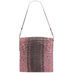 Gucci Pink Python Leather Leather Python Shoulder Bag Italy w/ Dust Bag