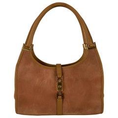 Gucci Pink Suede Stirrup Hobo Bag Tote Shoulder Bag