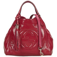 Gucci Pink x Hot Pink Soho Patent Leather Tote Bag