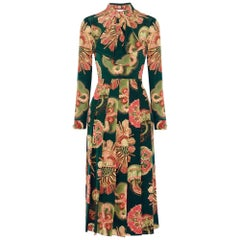 GUCCI Pleated Silk Crepe de Chine Silk Dress IT40 US 2-4