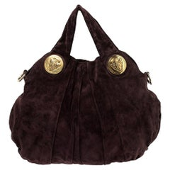 Gucci Plum Suede Large Hysteria Hobo
