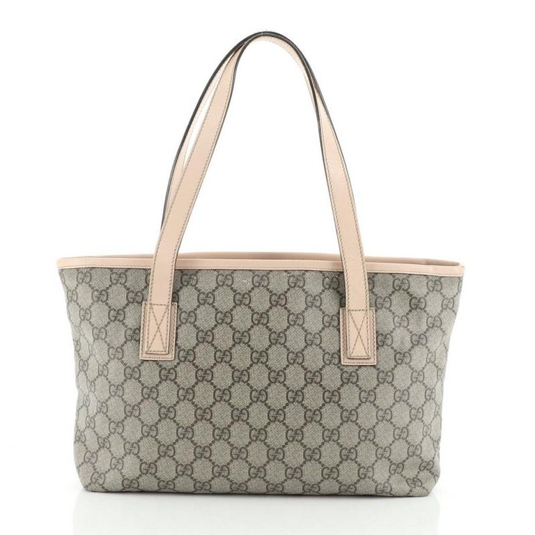 Brown Gucci Plus Tote GG Coated Canvas Small