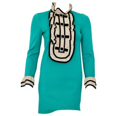 GUCCI Pre-fall 2017 Ruffle-Trim Bow Detail Crepe Jersey Dress