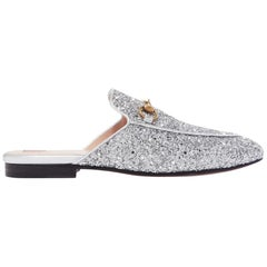 Gucci Princetown Horsebit-Detailed Glittered Leather Slippers