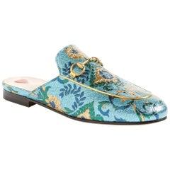 Gucci Princetown Metallic Jacquard Slippers
