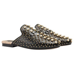 Gucci Princetown Studded Leather Slippers