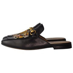 GUCCI PRINCETOWN TIGER LEATHER backless loafers (5.5 US)