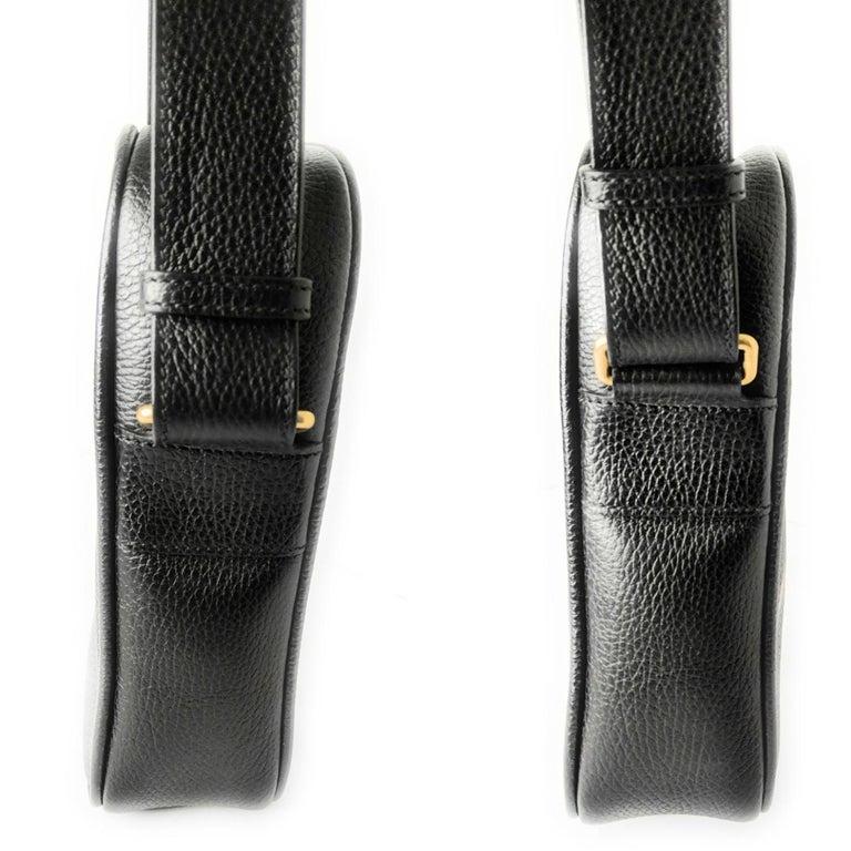 Gucci Print Messenger Black Leather Bag 523591 For Sale 1