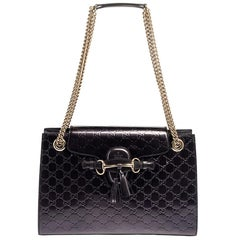 Gucci Purple Guccissima Patent Leather Emily Shoulder Bag