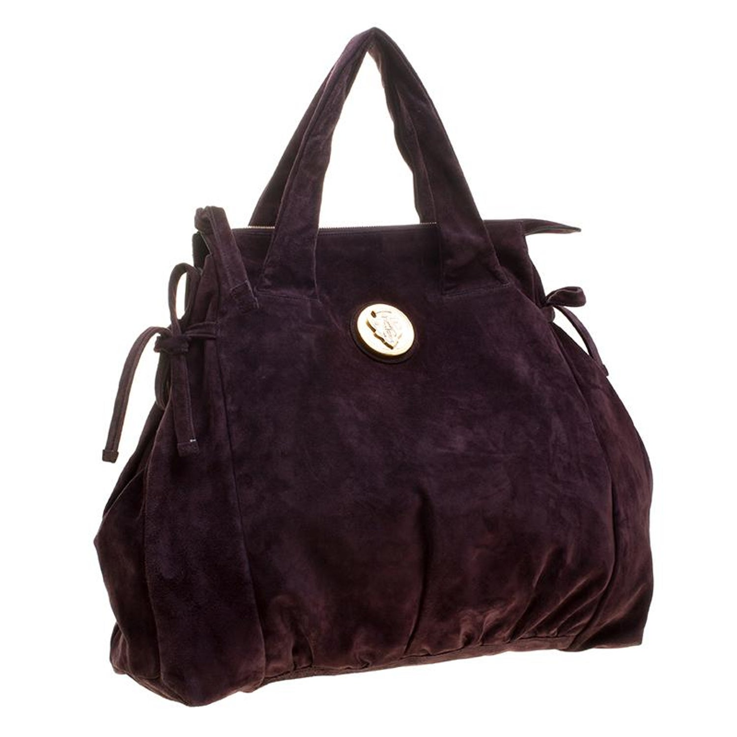 cbff4b124d0030 Gucci Purple Suede Large Hysteria Satchel For Sale at 1stdibs