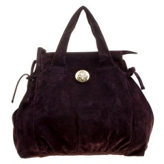 Gucci Purple Suede Large Hysteria Satchel