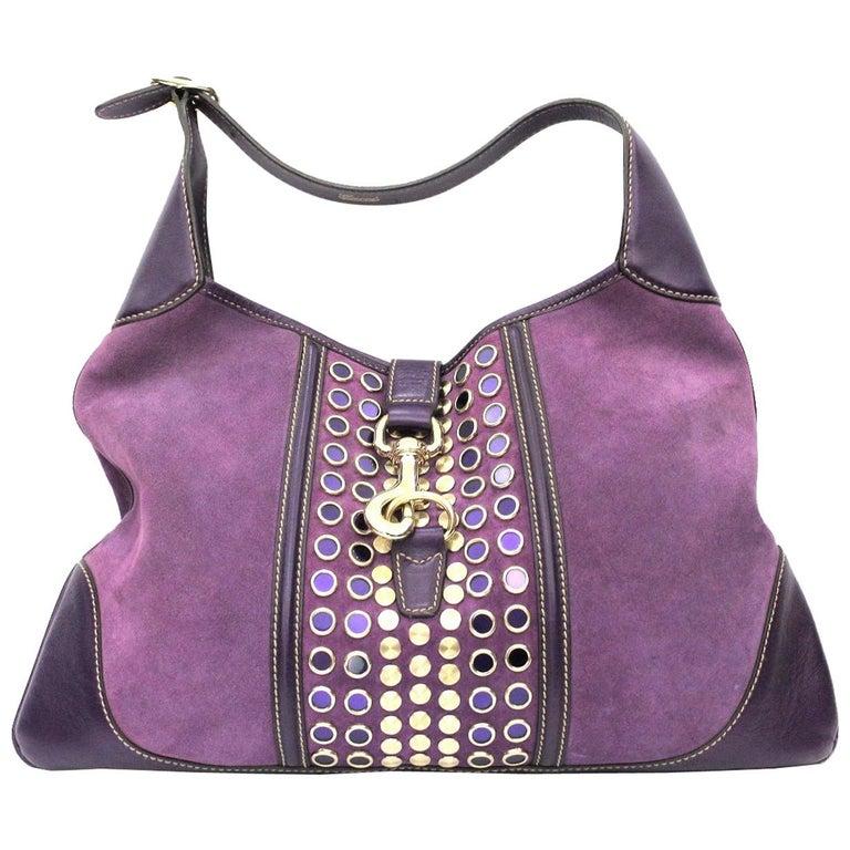 84d9baef66a Gucci Purple Suede Handbag - Handbag Photos Eleventyone.Org