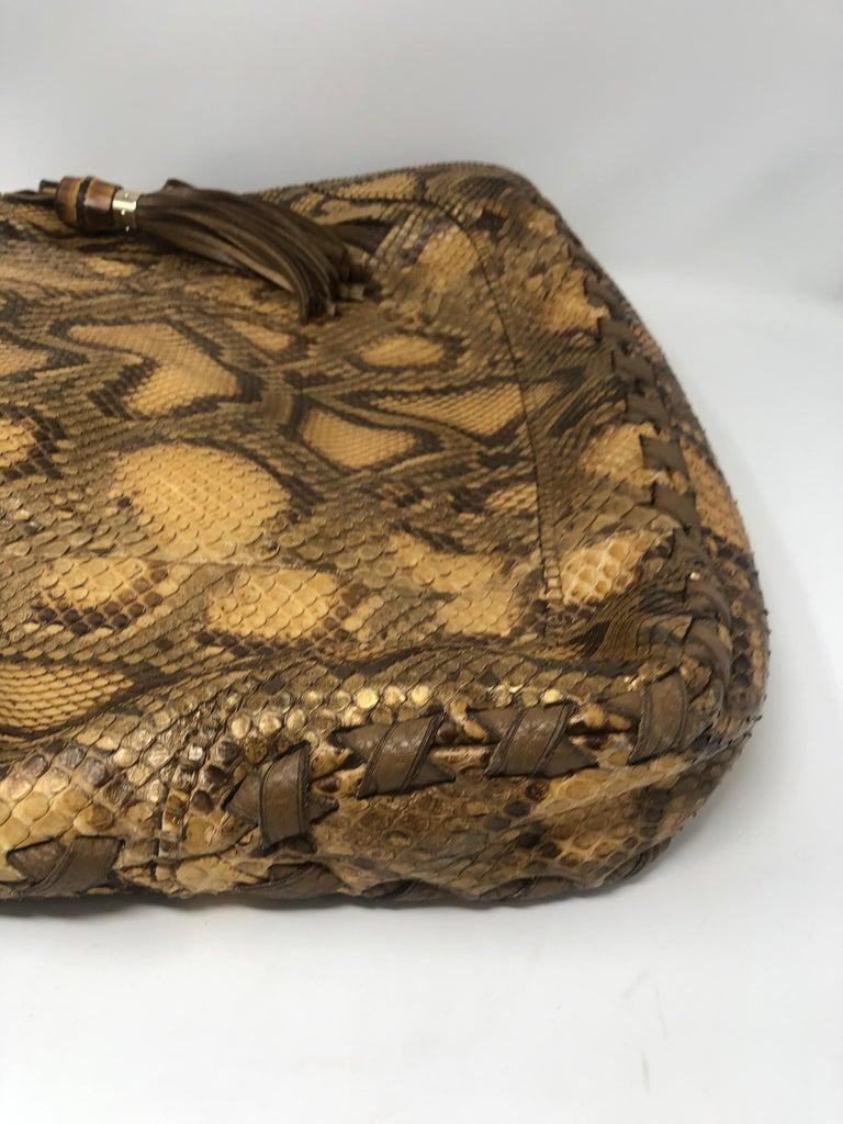 Gucci Python Hobo Bag  For Sale 6