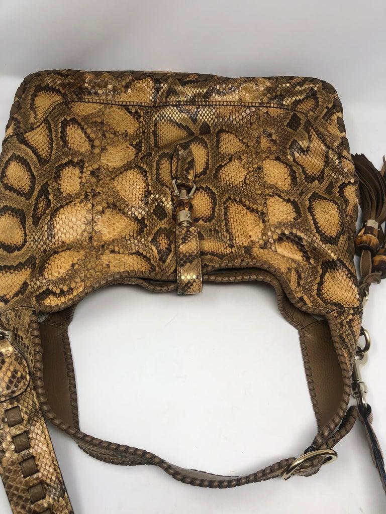 Gucci Python Hobo Bag  For Sale 7