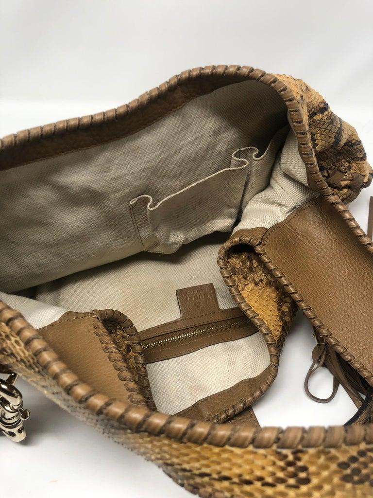 Gucci Python Hobo Bag  For Sale 8