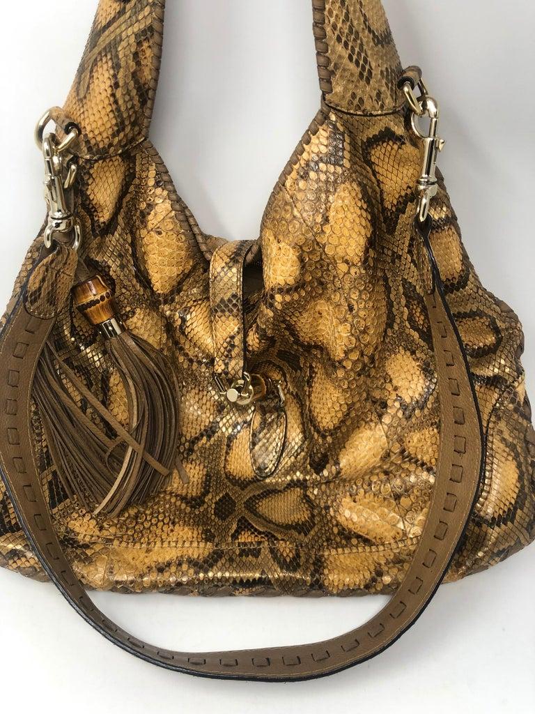 Gucci Python Hobo Bag  For Sale 9