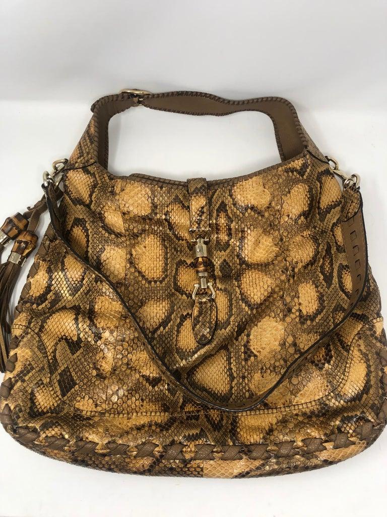 Gucci Python Hobo Bag  For Sale 10