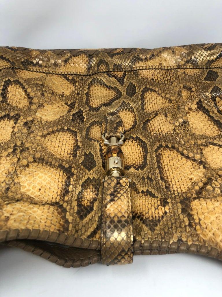 Brown Gucci Python Hobo Bag  For Sale