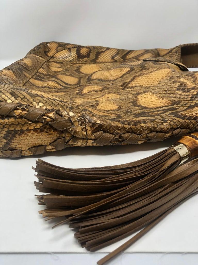Women's or Men's Gucci Python Hobo Bag  For Sale