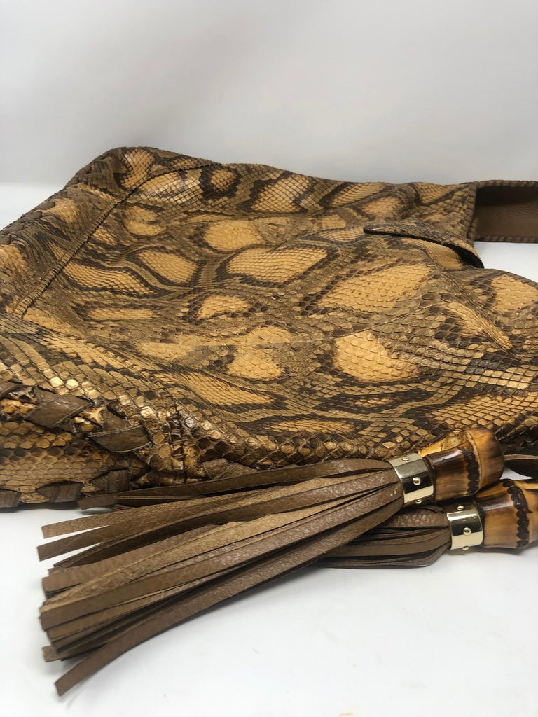 Gucci Python Hobo Bag  For Sale 2