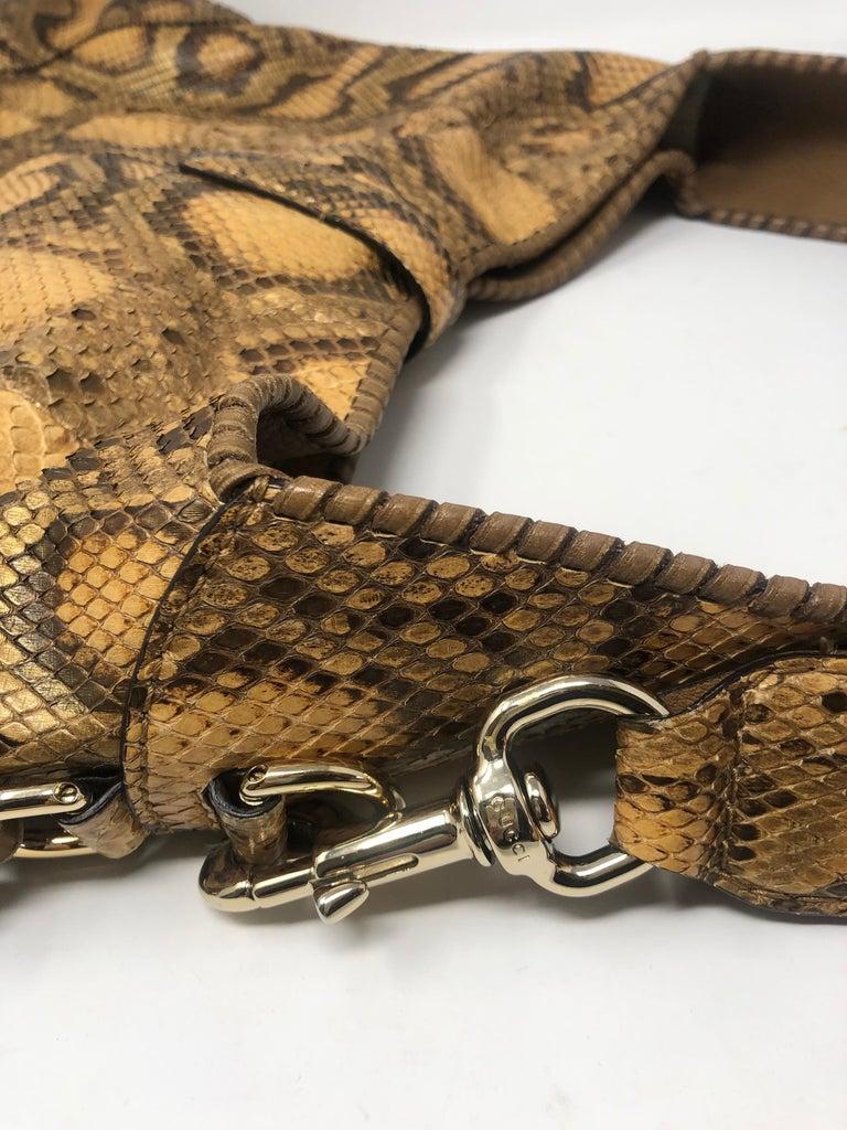Gucci Python Hobo Bag  For Sale 3