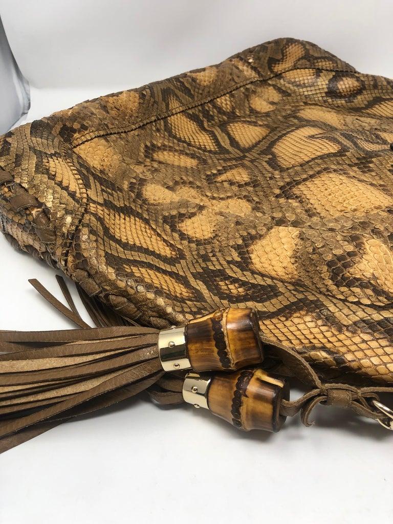 Gucci Python Hobo Bag  For Sale 4