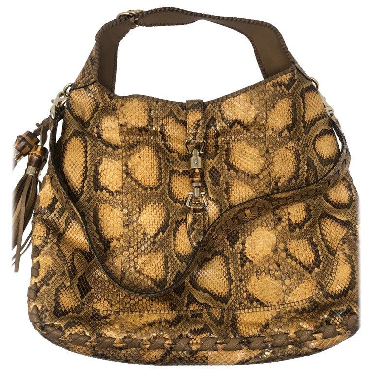 Gucci Python Hobo Bag  For Sale